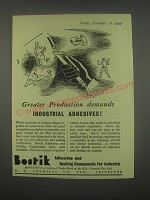 1949 Bostik Adhesives and Sealing Compounds Ad - Greater production demands