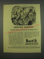 1949 Bostik Adhesives and Sealing Compounds Ad - Increased Production
