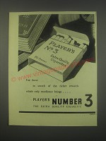 1949 Player's Number 3 Cigarettes Ad - For those in search of the rewards