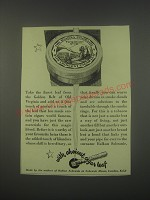 1949 Balkan Sobranie Virginian No. 10 Tobacco Ad - with choicest cigar leaf