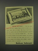 1949 Balkan Sobranie Turkish Cigarettes Ad - Recipe for peace