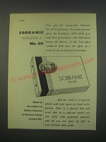 1949 Sobranie Virginia No. 40 cigarettes Ad