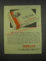 1949 Sobranie American Blend No. 50 Cigarettes Ad - Changing Tastes