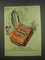 1949 Abdulla Fifth Avenue Cigarettes Ad - Made by Abdulla for those who prefer