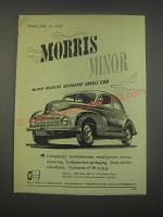 1949 Morris Minor Car Ad - supreme small car