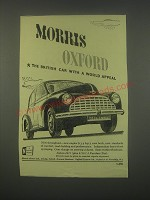 1949 Morris Oxford Car Ad - The British car with a world appeal
