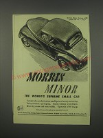 1949 Morris Minor Saloon Car Ad - Morris Minor the World's supreme small car