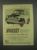 1949 Morris Oxford Car Ad - Morris Oxford the British Car with a world appeal