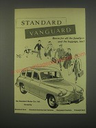 1949 Standard Vanguard Car Ad - Room for all the family - and the luggage, too