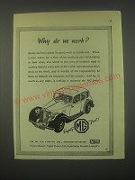 1949 MG Cars Ad - Why do we work?