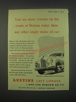 1949 Austin A40 Car Ad - You see more Austins on the roads