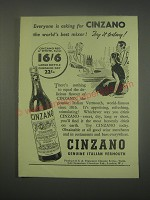 1949 Cinzano Vermouth Ad - Everyone is asking for Cinzano the world's best
