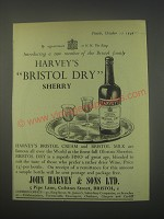 1949 Harvey's Bristol Dry Sherry Ad