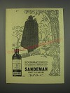 1949 Sandeman Port & Sherry Ad - It has been said that the sun never sets
