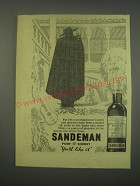 1949 Sandeman Port & Sherry Ad - For 160 years Sandeman's ports and sherries