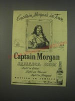 1949 Captain Morgan Jamaica Rum Ad - Captain Morgan's in town