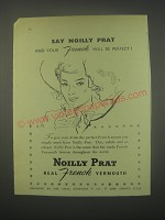 1949 Noilly Prat Vermouth Ad - Say Noilly Prat