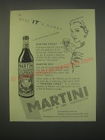 1949 Martini Vermouth Ad - Give It a name!