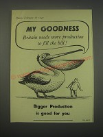1949 Guinness Beer Ad - My Goodness Britain needs more production