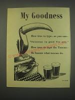 1949 Guinness Beer Ad - My Goodness How true to type - as you can