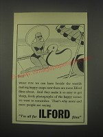 1949 Ilford Films Ad - cartoon by Nicolas Bentley - What fun we can have
