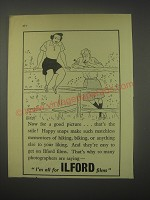 1949 Ilford Films Ad - cartoon by Nicolas Bentley - Now for a good picture