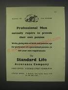 1949 Standard Life Assurance Ad - Professional men normally require