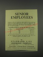 1949 Standard Life Assurance Ad - Senior Employees