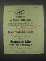 1949 Standard Life Assurance Ad - There is no better safeguard