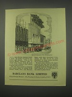 1949 Barclays Bank Ad - British Industries Fair, Birmingham