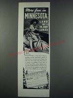 1949 Minnesota Tourism Ad - More fun in Minnesota land of 10,000 lakes