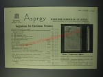 1949 Asprey Wafer Cigarette Lighter Ad - Suggestions for Christmas presents