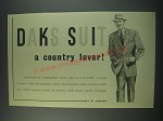 1949 Simpson DAKS Suit Ad - a country lover