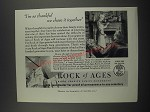 1949 Rock of Ages Ad - I'm so thankful we chose it together