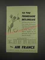 1949 Air France Ad - To the promenade des anglais