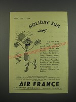 1949 Air France Ad - Holiday Sun