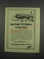 1949 Pan American World Airways Ad - Now! Daily! Double Decked Clippers
