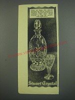 1949 Stuart Crystal Decanter Set Ad - Soon, we hope, this delicate decanter set