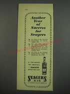 1949 Seagers Gin Ad - Another year of success for Seagers