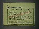 1949 Derbyshire England Ad - The Holiday county of pleasant surprises