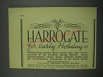 1949 Harrogate England Ad - Harrogate for early holiday