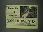 1949 Van Heusen Semi-stiff Collar Ad - Out of the top drawer
