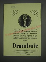 1949 Drambuie Liqueur Ad - This Jacobite glass bears an engraved portrait
