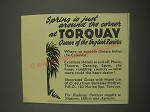 1949 Torquay Tourism Ad - Spring is just around the corner at Torquay