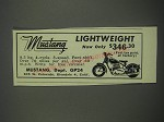 1949 Mustang Motorcycle Ad - Lightweight now only $346.30