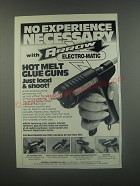1991 Arrow Electro-Matic Hot Melt Glue Guns Ad - No experience necessary