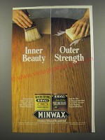 1991 Minwax Wood Finish and Polyurethane Ad - Inner beauty Outer Strength