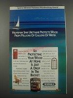 1991 Minwax Helmsman Spar Urethane Ad - Helmsman Spar Urethane protects wood from millions of gallons of water