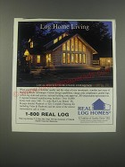 1991 Real Log Homes Ad - Log Home Living