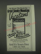 1991 Maggie Valley & Waynesille, NC Ad - We wrote the book